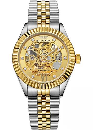 BRIGADA Men's Watches Swiss Brand Nice Classic Luxury Gold