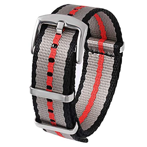 PBCODE Seat Belt Nylon NATO Strap Heavy Duty Military Watch