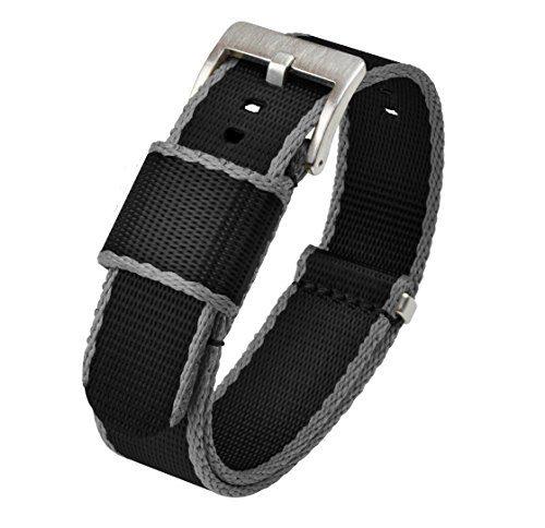 Jetson NATO Style Watch Strap 18mm Black