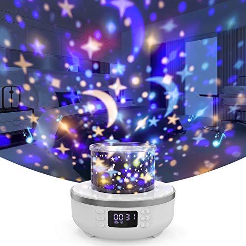 Star Projector Night Light Bluetooth Speaker for Kids