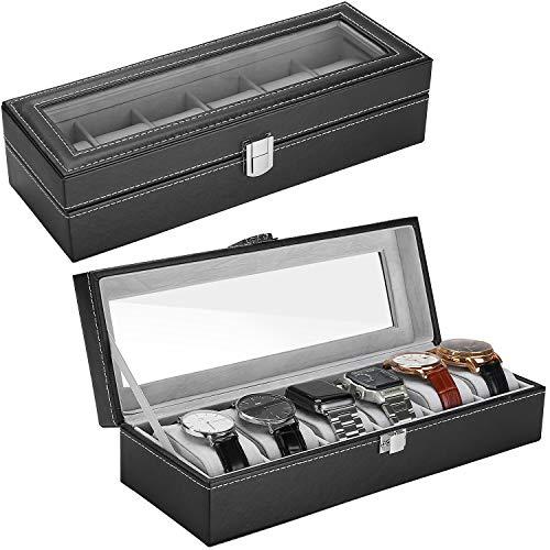 ProCase Watch Box Leather for Men Women (6 Slots)