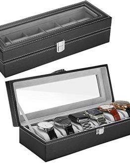 ProCase Watch Box Leather for Men Women (6 Slots)