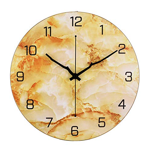 Modern Metal Wall Clock Large Round Decorative Clocks for Living Room