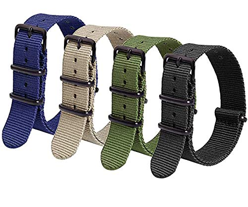 Ritche 20mm NATO Strap Nylon Watch Band Compatible with Timex