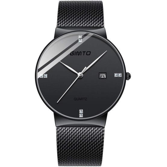 Deep Blue Ultra Thin Wrist Watches for Men