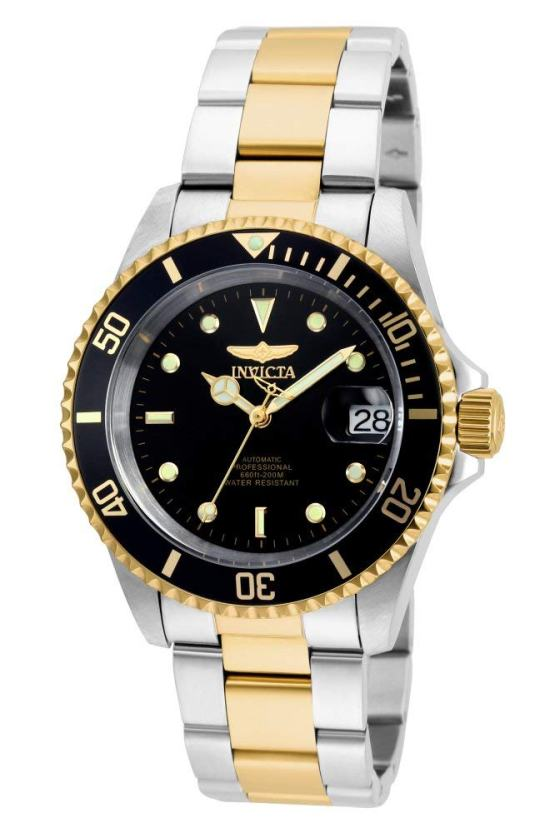 Invicta Men's Pro Diver 40mm Steel and Gold Tone Stainless Steel