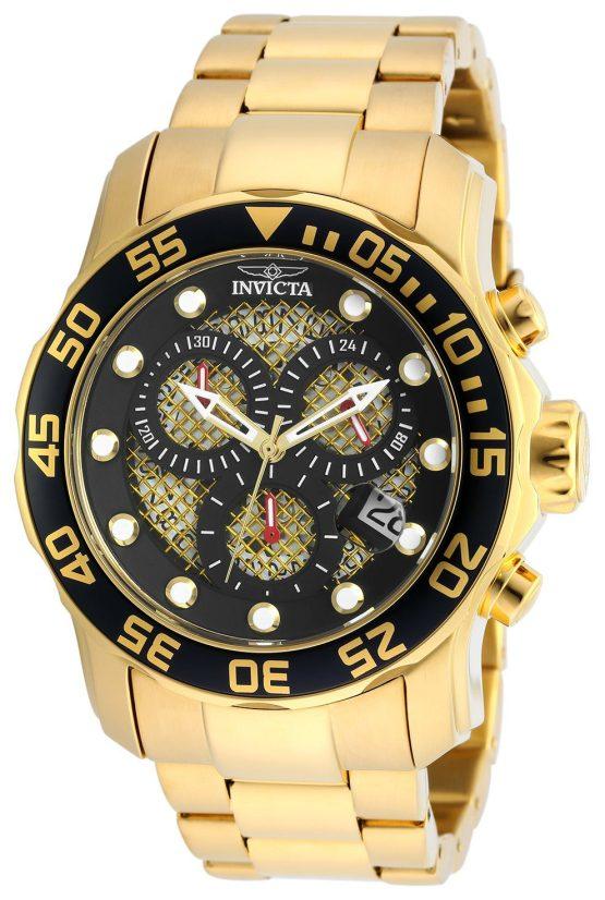 Invicta Pro Diver 18k Gold Ion-Plated