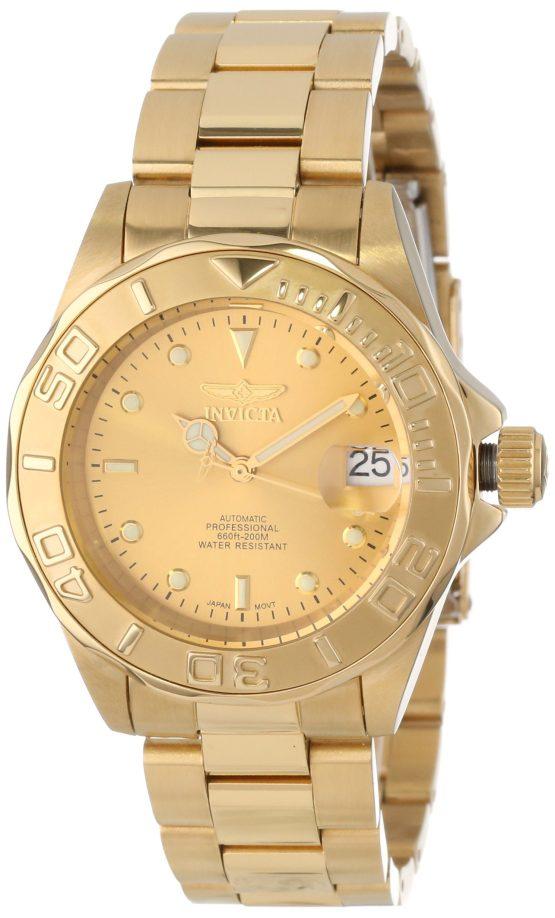 Automatic Watch Gold Invicta Men's Pro Diver