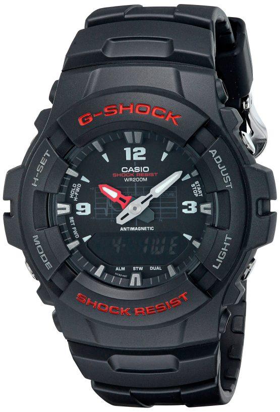 Casio G100-1BV G Shock-Ana Digi-200M Wr-Black