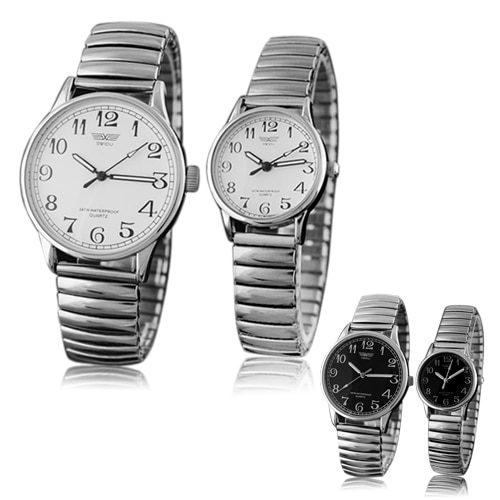 Couple Lover Elastic Alloy Quartz Couple Watch