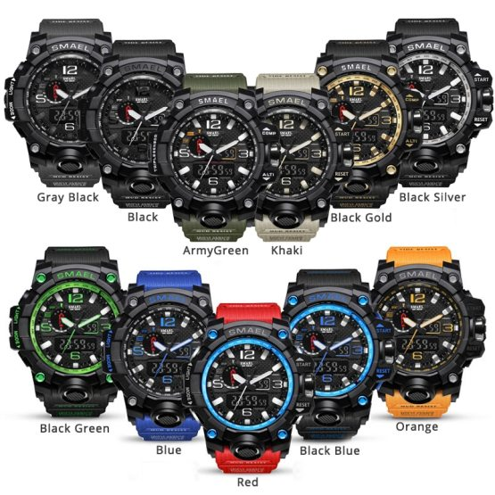 Brand Men Sports Watches Dual Display