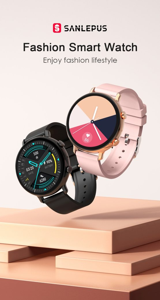 Smart Watch With Bluetooth Calls Blood Pressure Monitor