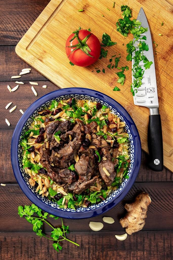 Persian Lamb Shanks over Celebration Rice