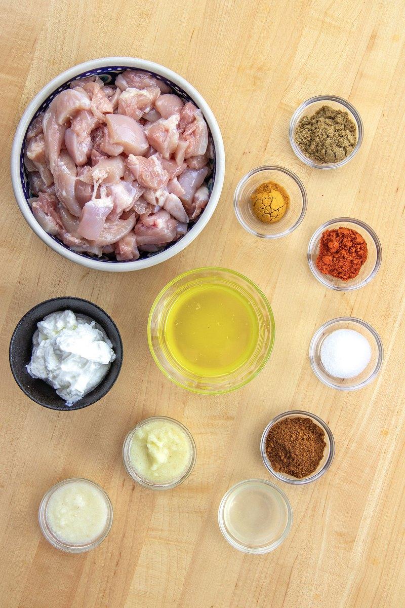 Marinade Ingredients - Butter Chicken