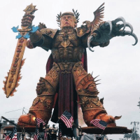 "Epic ""God Emperor Trump"" Float Featured In Italy's 'Carnevale Di Viareggio' Parade"