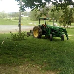 Running on tractor powered genorator