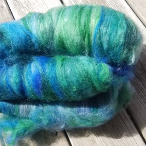 Border Leicester Batts – Hand-dyed