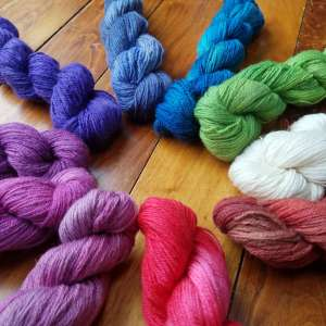 Greensboro Bend- Wool From Our Bluefaced Leicester Sheep