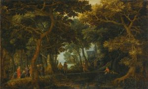 Forest Landscape, by David Vickboons (1633)