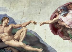 Sistine Chapel Ceiling Painting, by Michelangelo