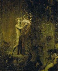 Orpheus in Hades. There is silence as nobody is interested in listening.