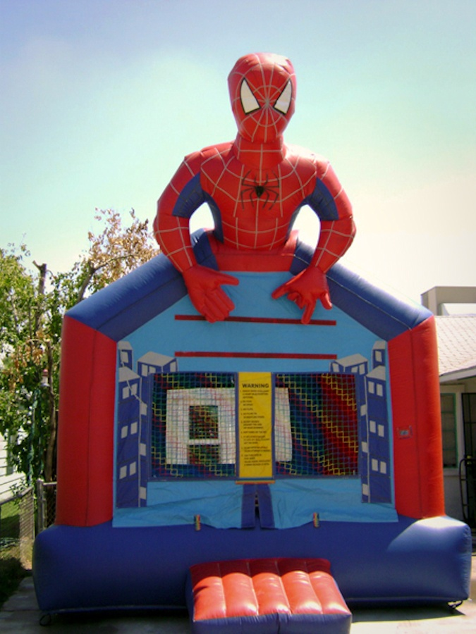 spiderman table and chairs ferrari scuderia office chair half inflatable bounce house rentals   jumpers