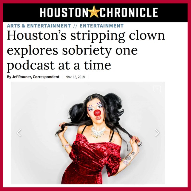 Houston Chronicle Houston's Stripping Clown Explores Sobriety KiKi Maroon Burlesque