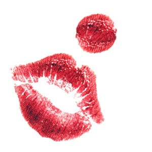 KiKi Maroon's clown kiss signature