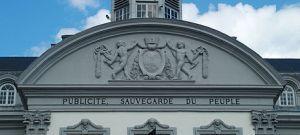 Fronton de la Maison Communale de Verviers