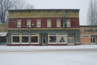 Snowy Storefront
