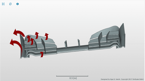 small resolution of f1 front wing end plate of an f1 car airflow cfd analysis