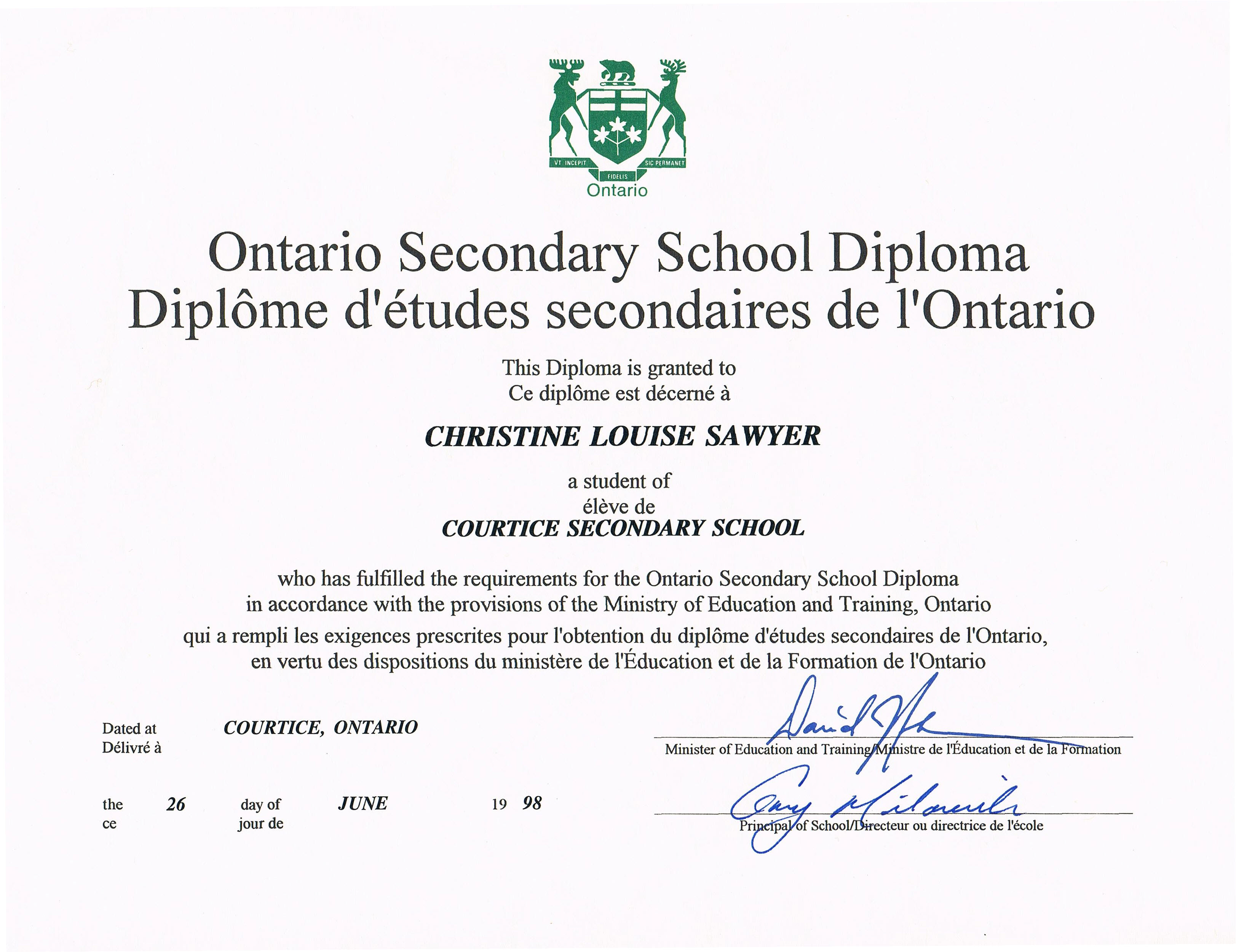 Getting A Copy Of High School Diploma Ontario