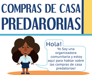 Link to visual guide to predatory home-buying in Spanish. Accessible information available in FAQ above.
