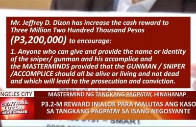 P3.2-M reward, inialok para malutas ang tangkang pagpatay sa isang negosyante
