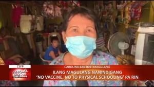 Ilang magulang nanindigang 'No Vaccine, No to Physical Schooling' pa rin   CLTV36 News