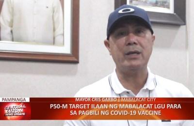 ₱50M target ilaan ng Mabalacat LGU para sa pagbili ng COVID-19 vaccine
