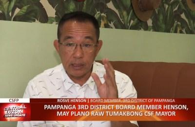 Pampanga 3rd District Board Member Rosve Henson, may plano raw tumakbong City of San Fernando Mayor