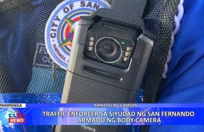 Traffic enforcer sa Siyudad ng San Fernando armado ng body camera