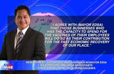 Rene Romero, suportado ang panukala ni Mayor EDSA na tumulong ang mga negosyante sa pagbabakuna ng mga manggagawa | PAMPANGA News