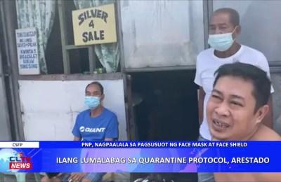 Ilang lumalabag sa quarantine protocol, arestado | PAMPANGA News