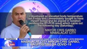 Mabalacat City Mayor Cris Garbo, nagpositibo sa COVID-19   Pampanga News - CLTV36