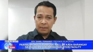Paaralan, multi-purpose hall sa kada barangay sa Bulacan, gagawing isolation facility   CLTV36 News