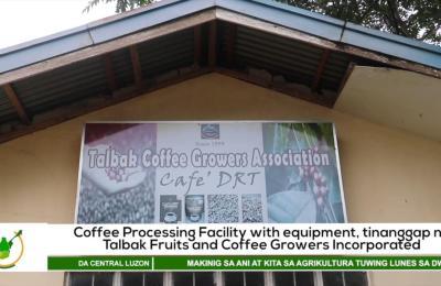 Coffee Processing Facility with equipment, tinanggap ng Talbak Fruits & Coffee Growers Inc. | Agri-Balita Central Luzon