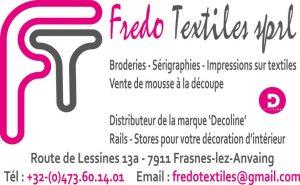 Fredo Textiles 2019 logo avec téléphone PUB FIERTEL Vecto