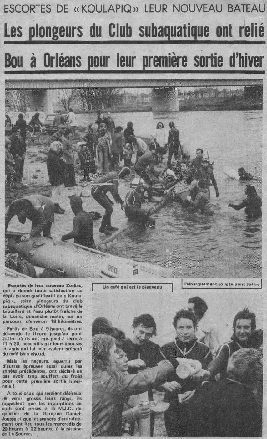 La Nouvelle République du Centre – novembre 1974