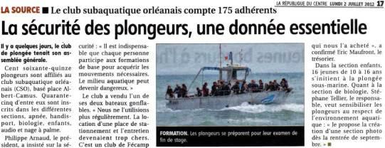 La République du Centre – 02/07/2012