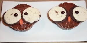 Cupcakes chouettes - recette cupcakes - recette decoration cupcakes - recette halloween 2