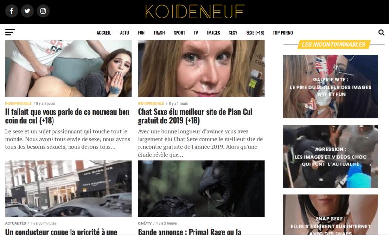 KOI-DE-NEUF.fr le site Porn & médias