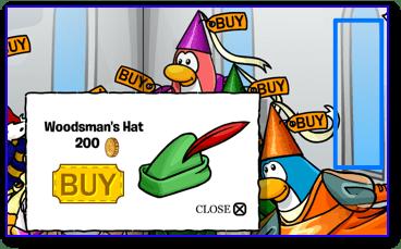 Club Penguin Woodsman's Hat