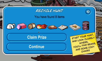 Club Penguin Recycle Hunt 2010